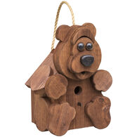 Brookside Woodworks Amish Handcrafted Bear Birdhouse