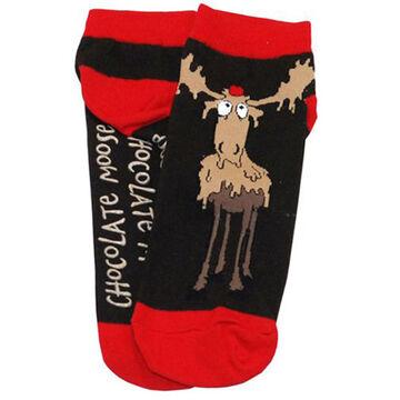 Lazy One Womens Chocolate Moose Slipper Sock