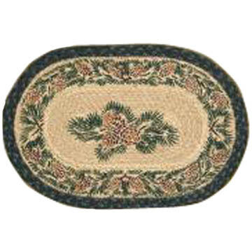 Capitol Earth Pinecone Oval Swatch Braided Rug