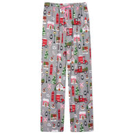 Hatley Little Blue House Women's Holiday Christmas Village Flannel Pajama Pant