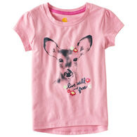 Carhartt Toddler Girl's Live Wild And Free Short-Sleeve T-Shirt