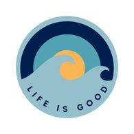 "Life is Good Wave Sunrise 4"" Magnet"