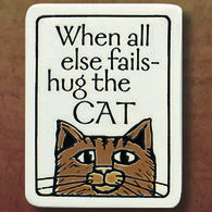 "Spooner Creek ""Hug The Cat"" Magnet"