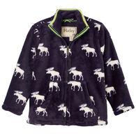 Hatley Boy's Moose Silhouettes Fuzzy Fleece Jacket