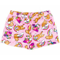 Candy Pink Girl's Sloth Pajama Short