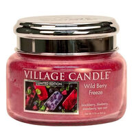 Village Candle Small Glass Jar Candle - Wild Berry Freeze