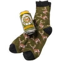 Hatley Little Blue House Men's Buck A Beer Beer Can Crew Sock