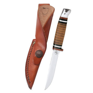 W.R. Case & Sons Leather Mini FINN Hunter Fixed Blade Knife