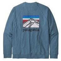 Patagonia Men's Line Logo Ridge Organic Cotton Crew Sweatshirt