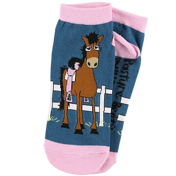 Lazy One Womens Pasture Bedtime Horse Slipper Sock