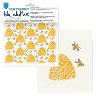 Rockflowerpaper Beehive Eco Friendly Blu Dish Cloth - 2 Pack