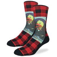 Good Luck Sock Men's Dapper Rubber Duck Crew Sock