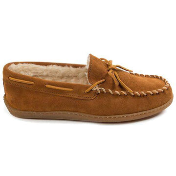 Minnetonka Mens Pile-Lined Hard Sole Moccasin