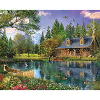 White Mountain Jigsaw Puzzle - Mountain Cabin