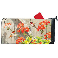MailWraps Hummingbird Geraniums Magnetic Mailbox Cover