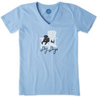 Life is Good Women's Dog Days Crusher Vee Short-Sleeve T-Shirt