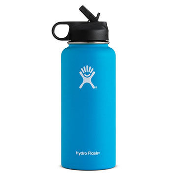 Hydro Flask 32 oz. Wide Mouth Insulated Bottle w/ Straw Lid