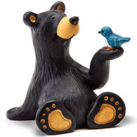 Big Sky Carvers Minnie Bear with Bird Mini Figurine