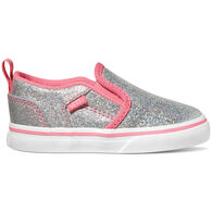 Vans Toddler Girls' Asher V Iridescent Slip-On Shoe