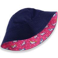 Hatley Girl's Prancing Unicorns Reversible Sun Hat