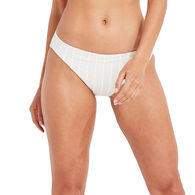 Vineyard Vines Women's Villa Shimmer Seersucker Bikini Classic Bottom