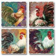 Ridge Top Kountry Krystal Fancy Pants Roosters, 4-Pack