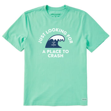Life is Good Mens Place To Crash Crusher-Lite Short-Sleeve T-Shirt