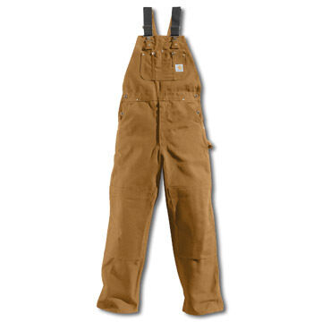 Carhartt Mens 12oz Cotton Duck Unlined Bib Overall
