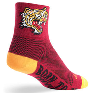SockGuy Mens Hell Cat Bicycling Sock