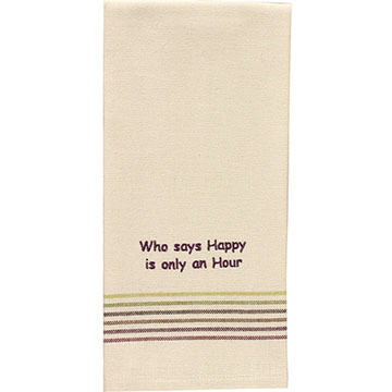 Park Design Who Says Happy Hour Dish Towel