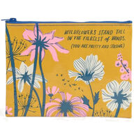 Blue Q Women's Wildflowers Stand Tall In The Fiercest of Winds Zipper Pouch