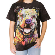 The Mountain Men's Big & Tall Beware of Pit Bulls Short-Sleeve T-Shirt