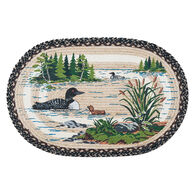 Capitol Earth Loons Oval Patch Braided Rug