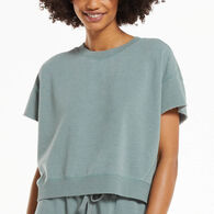 Z Supply Women's Adah Fleece Short-Sleeve Top