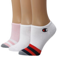 Champion Women's Embroidered C Logo Super No-Show Sock, 3/pk