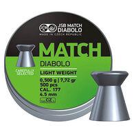 JSB Match Diabolo Green Match Light Weight 177 Cal. 4.5mm 7.33 Grain Air Gun Pellet (500)