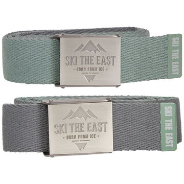 Ski The East Mens Ridgeline Canvas Reversible Belt