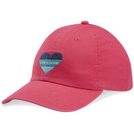 Life is Good Girl's Color Block Heart Chill Cap