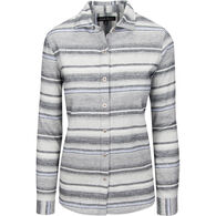 North River Women's Heather Brushed Cotton Striped Long-Sleeve Shirt