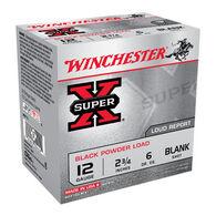 "Winchester Super-X 12 GA 2-3/4"" Black Powder Blank Ammo (25)"