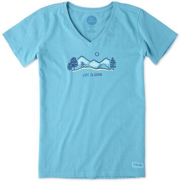 Life is Good Womens Hike Vista Crusher Vee Short-Sleeve Shirt