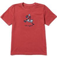 Life is Good Boy's Jake Kick Soccer Vintage Crusher Short-Sleeve T-Shirt