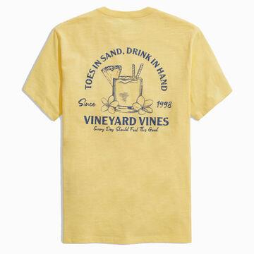 Vineyard Vines Mens Toes in Sand Slub Short-Sleeve T-Shirt