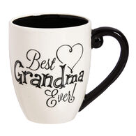 Evergreen Black Ink Best Grandma Ever Ceramic Mug