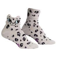 Sock It To Me Women's Check Meowt Turn Cuff Sock