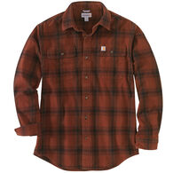 Carhartt Men's Big & Tall Original Fit Flannel Plaid Long-Sleeve Shirt