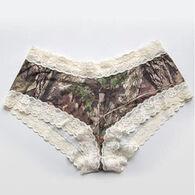 Wilderness Dreams Women's Mossy Oak/Cream Lace-Trimmed Boy Short