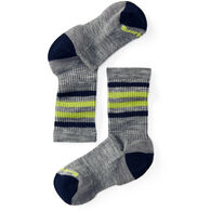 SmartWool Boys' & Girls' Striped Hike Light Crew Sock