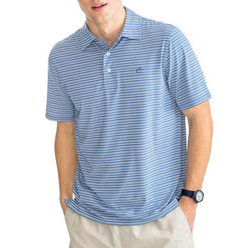 Southern Tide Mens Fantail Striped Performance Polo Short-Sleeve T-Shirt