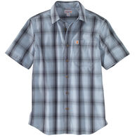 Carhartt Men's Big & Tall Essential Plaid Open Collar Short-Sleeve Shirt
